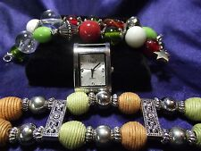 Vivani  Woman's Watch with 2 Bands (Wrapped Beads) B061
