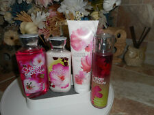 Bath & Body Works Cherry Blossom, 4 Pc. Set with Fragrance Mist