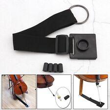 More details for black cello antiskid device non-slip stopper holder mat with 4pcs endpin tip cap