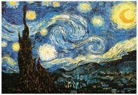 1000 Pcs Puzzle Van Gogh Starry Night Art Painting Xmas Gift Lockdown Activity