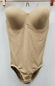 36D Shapewear Bodysuit Maidenform Flexees Beige PLUS ONE FREE (see description)