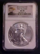 2014 Silver Eagle NGC MS70 First Releases - Gorgeous Gem! -d320ddqd