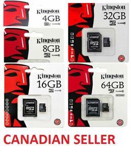 Kingston Micro SD Card 8gb 16g 32gb 64gb 128gb Memory Cards Fast Read Write