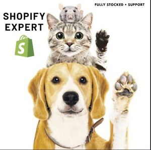 PREMIUM SHOPIFY DOG/PETS DROPSHIPPING WEBSITE BUSINESS, FULLY STOCKED + SUPPORT
