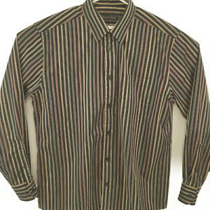 Kenneth Roberts Platinum Men's Black Striped Dress Shirt Size L