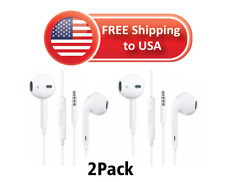 2 Pack Headphones Earphones Earbuds Remote & Mic For Apple iPhone Pc Mp3