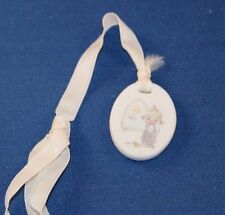 Vintage 1987 Precious Moment Oval Bookmark Ornament by Enesco