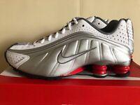 Nike Shox R4 White Metallic Silver BV1111-100 Running Shoes Unisex Sneakers NIB