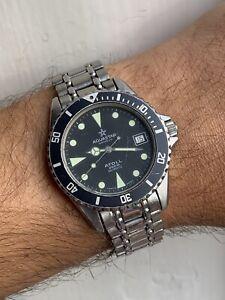 Vintage Aquastar Atoll Quartz Mens Watch Swiss Made