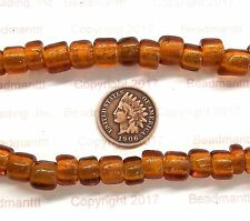 Antique Vintage Venetian Med Amber Crow Trade Beads   Rendezvous # 128