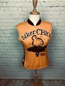 PRECARYOUS 'BIKER CHICK' Women's Large Cycling Jersey