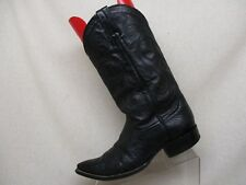 Goss Black Leather Smooth Ostrich Cowboy Pointed Toe Western Boots Mens Sz 9.5 D