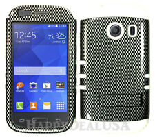 For Samsung Galaxy Ace Style S765c KoolKase Hybrid Cover Case - Carbon Fiber