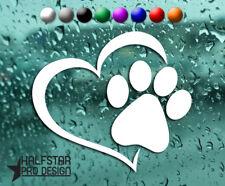 Pata De Mascotas corazón pared coche vinilo autoadhesivo con Decoración de Arte Mural Casa Amor Perro Gato