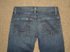 Plastic By Gly Skinny Flare Stretch Low Rise Denim Jeans Womens Size 1 x 30.5