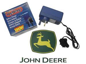 12 Volt Peg Perego Toy Battery Charger (JOHN DEERE SPEC)