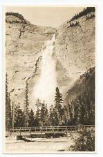 RPPC Takakkaw Falls Yoho National Park Canada Byron Harmon Vintage Postcard