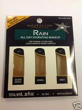 Max Factor Rain All Day Hydrating Makeup Shade Sampler FOR DARK SKIN.