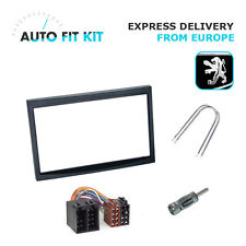 Peugeot 207 307 -> 2006 2 Din Double DIN Fascia Radio Stereo Replacement Kit