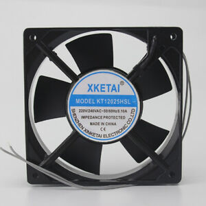 XKETAI KT12025HSL 220/240V 0.10A 12025  Double Ball Cabinet Cooling Wind 2-wire