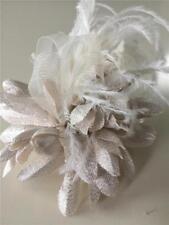NWT WHITE HOUSE BLACK MARKET Neutral Shimmer Flower Pin/Clip