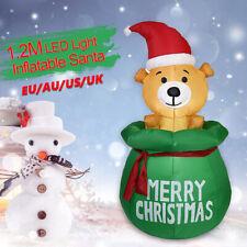 Inflatable Santa Claus Christmas Blowing Gift Box Christmas Yard Party Decor BON