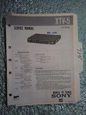 Sony xtv-5 service manual original repair book mobile tv tuner
