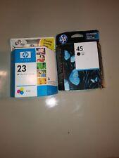 New Genuine HP 45 Black (2016XP) & 23 (2013XP) Color Ink Cartridge Set
