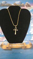 Titanium Gold Color Men/Women Egyptian Ankh Stainless Steel Cross Pendant