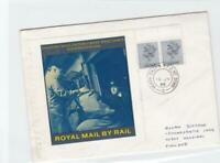 north east'n t.p.o. nt. down  1986 royal mail by  rail  stamps cover ref r14725