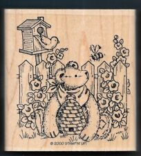 Teddy Bear Garden Song Bird Honey Bee Hive Insects Stampin Up! 2000 Rubber Stamp