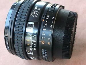 Nikon NIKKOR 20mm f/2.8 D CRC AF SIC Lens MINT Cond.