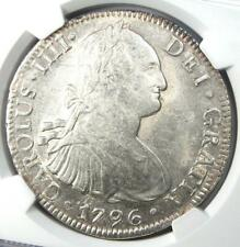 1796-MO FM  Mexico Charles IV 8 Reales Coin (8R) - Certified NGC MS62 (BU UNC)