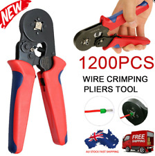 1200 Pcs Bootlace Ferrule Crimping Tool Kit Crimper 0.25-10mm² Cord End Ratchet