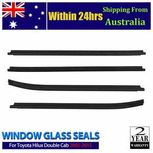 For toyota hilux cab 2005-2015 Window glass seals door belt weather strip AU NEW