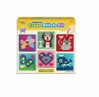 Childrens 6in1 Cross Stitch Kit Art & Crafts Activity Window Art Indoor Kits Set