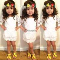 Lovely 2-11 Baby Girls Kid Children Clothing Cute Lace Princess Mini Dress Skirt