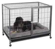 Metal Indoor Dog Pet Cage Crate Wheeled Mobile Den Puppy House Outdoor House Pen