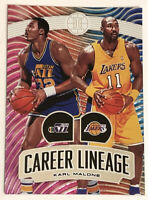 Karl Malone 2019-20 Panini Illusions SP Career Lineage Insert #20 Utah Jazz 🔥