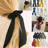 Boho Print Ponytail Scarf Hair Bow Ties Dot Floral Scrunchie Ribbon Hair Band~au
