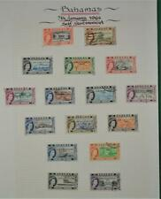 BAHAMAS  STAMPS SELECTION ON ALBUM PAGE   (N35)