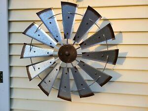 Galvanized Reproduction Windmill Farm Decor