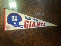 Vintage 1960's New York Giants NFL Football Sports Used  Pennant