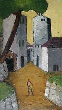"""Arne Siegfried 1893-1985 Schaffhausen / Gemälde """"Deyá (Mallorca)"""" / um 1950-60"""