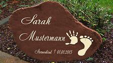 Schwere Gedenkplatte Grabstein Gedenktafel Sternenkind Urne Tiergrab Motiv HF