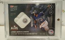Josh Donaldson RELIC Base Walkoff #'d 49/49 2016 Topps NOW Card #560C Blue Jays