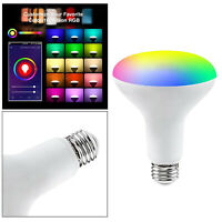 Smart glühbirne rgbcw 9w wifi sprach steuerung kompatibel mit bluetooth app