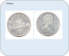 UN DOLAR DE PLATA AÑO 1965  CANADA     ( MB11380 )