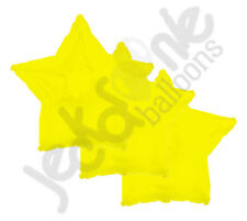 "3 pc - 18"" Solid Yellow Star Balloon Wedding Baby Bridal Shower Birthday Luau"
