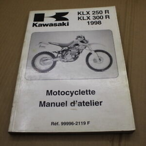 MANUEL D ATELIER KAWASAKI KLX 250 300 R 1993-1998 REVUE TECHNIQUE EN FRANCAIS